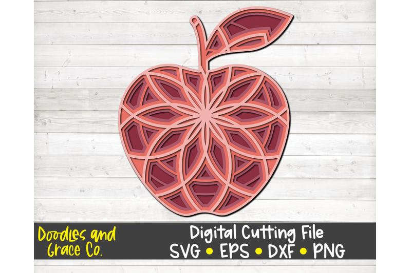 apple-3d-layered-mandala-svg