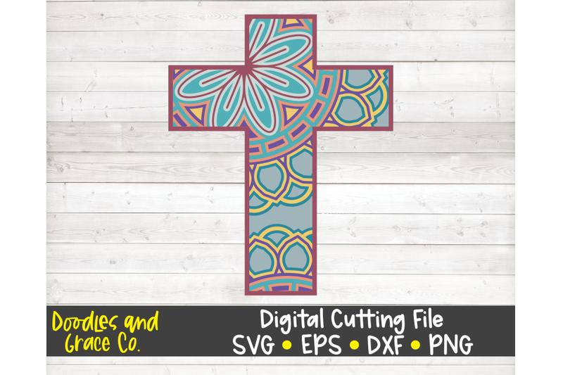 cross-3d-layered-mandala-svg