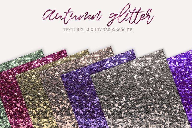 autumn-glitter-digital-paper-autumn-glitter-chunky-glitter