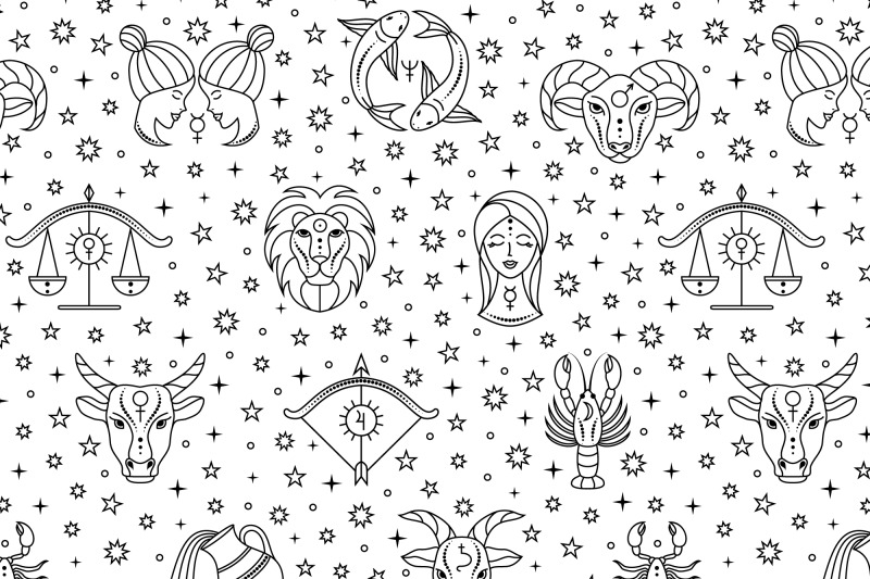 pattern-with-zodiac-signs-and-stars