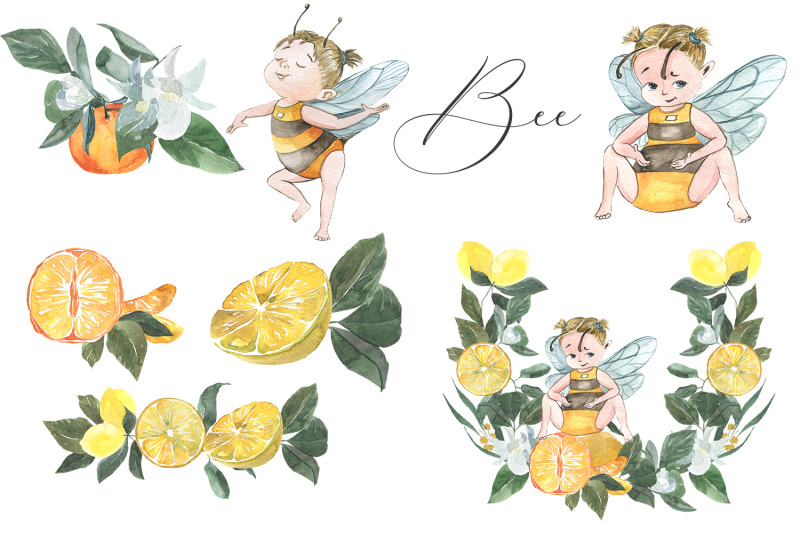 bee-citrus-set