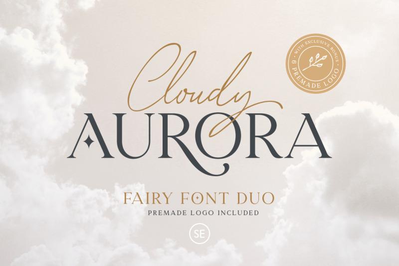 cloudy-aurora-font-duo-logos