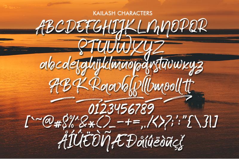 kailash-brush-font