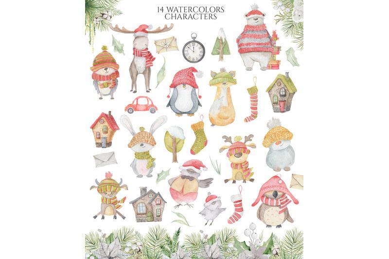 christmas-watercolor-characters