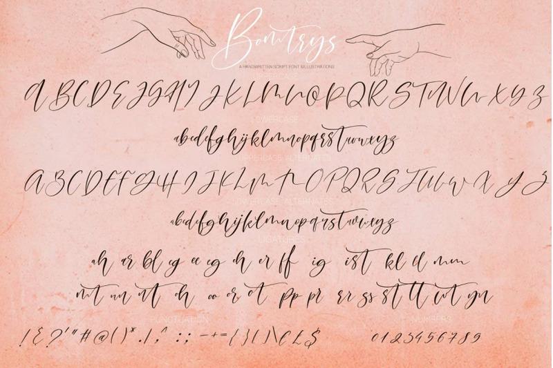 bomtrys-script-font-amp-amp-illustrations