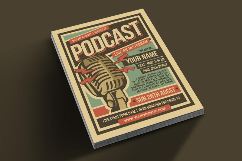 podcast-retro-event-flyer
