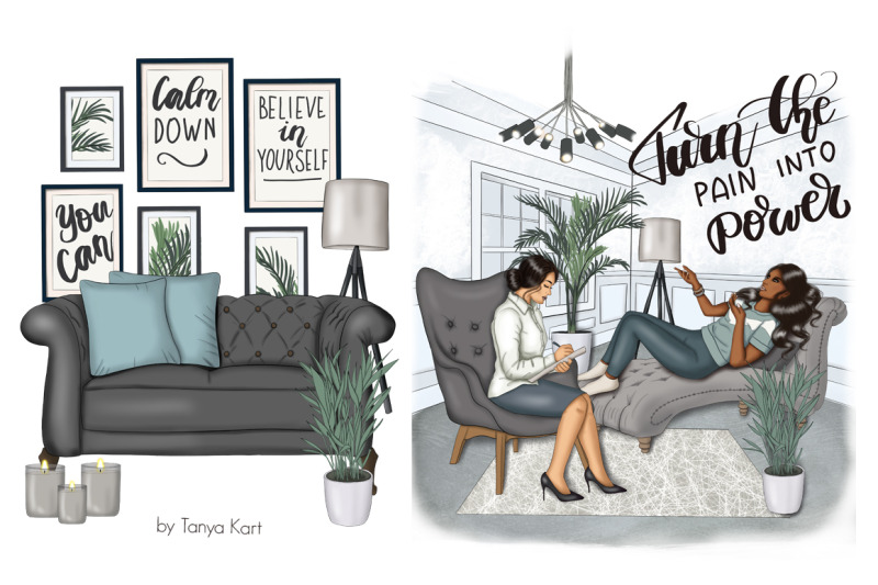 mental-self-care-clipart-amp-pattern