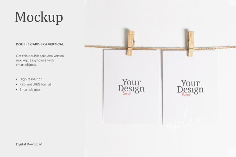 Download 3x4 Card Mockup, Thank You Card Mockup Free Mockups