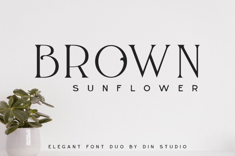 brown-sunflower-font-duo