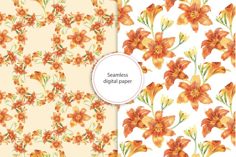 watercolor-lilies