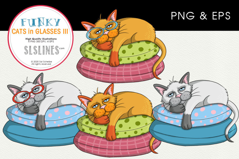 lazy-cat-on-a-pillow-png-amp-eps-illustrations