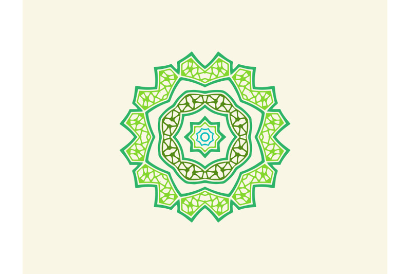 ornament-abstract-green-color-design