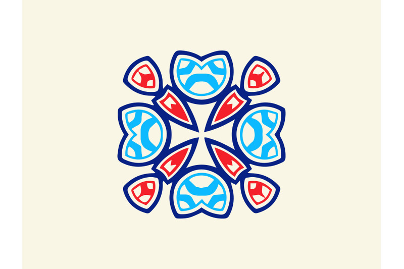ornament-abstract-navy-blue-red-color