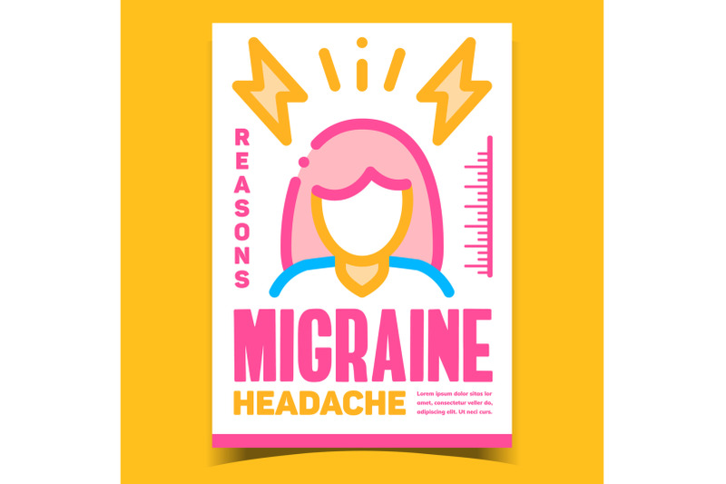 migraine-headache-creative-advertise-banner-vector
