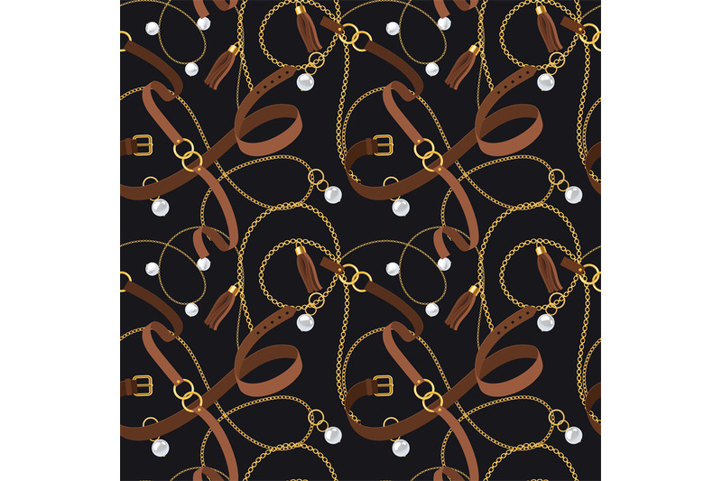 belts-seamless-pattern-gold-chains-and-pendants-bracelets-and-leathe