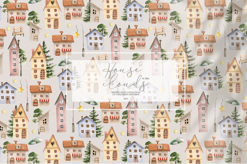 in-the-clouds-watercolor-cute-patterns