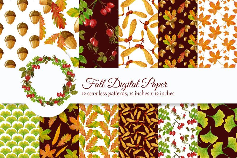 fall-digital-paper-watercolor-autumn-paper