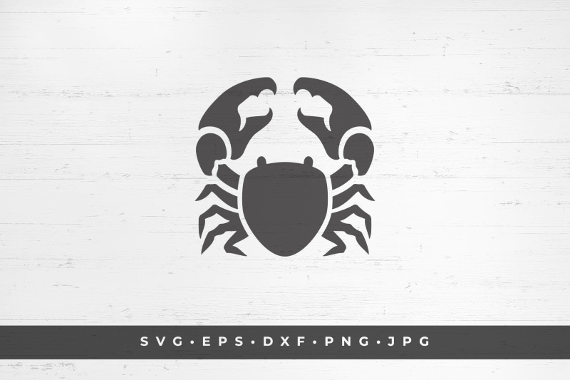 crab-seafood-silhouette-vector-illustration