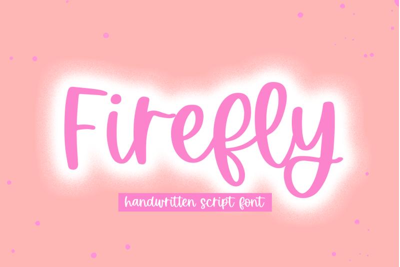 firefly-handwritten-script-font