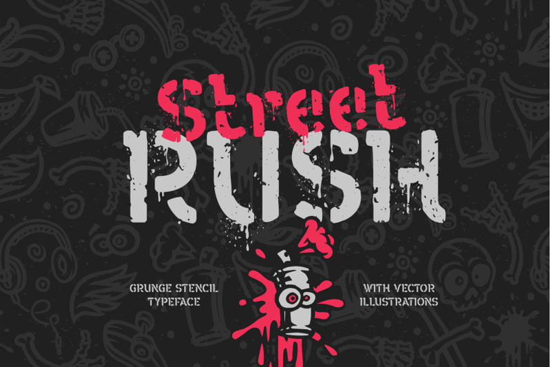 street-rush-font-amp-graphics