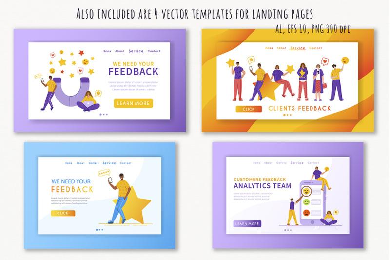 positive-feedback-vector-pack