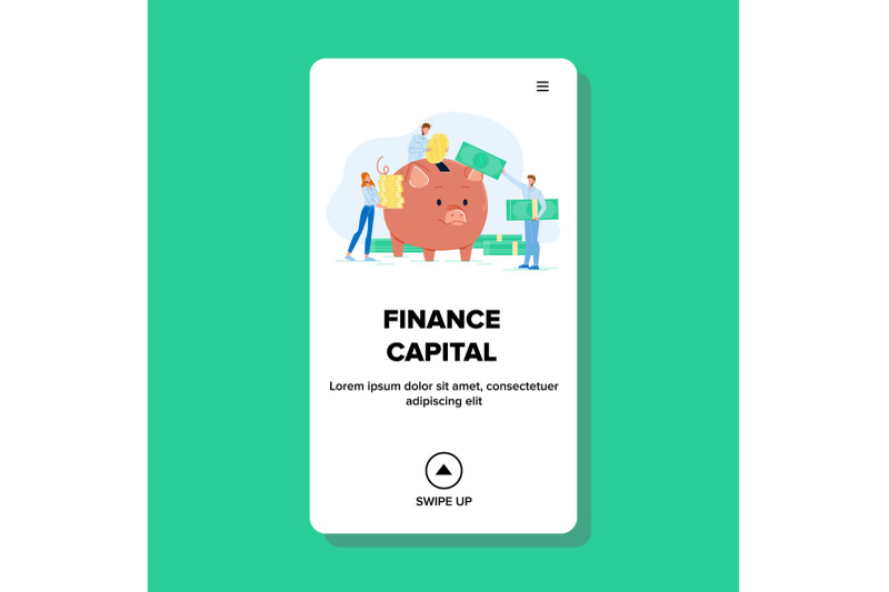finance-capital-and-collective-investment-vector-illustration