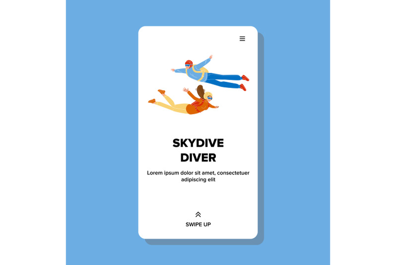 skydive-divers-flying-down-with-parachute-vector