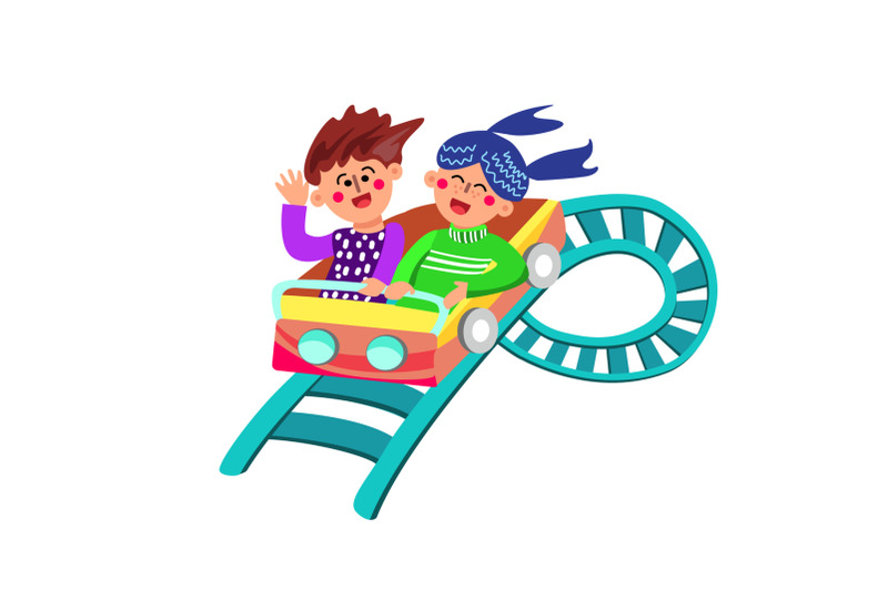 characters-have-fun-riding-rollercoaster-vector-illustration