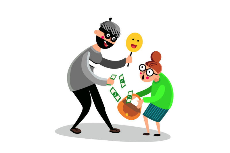 criminal-man-scam-older-woman-character-vector