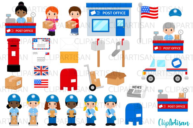 post-office-clip-art-mail-carrier-mail-truck-mailbox