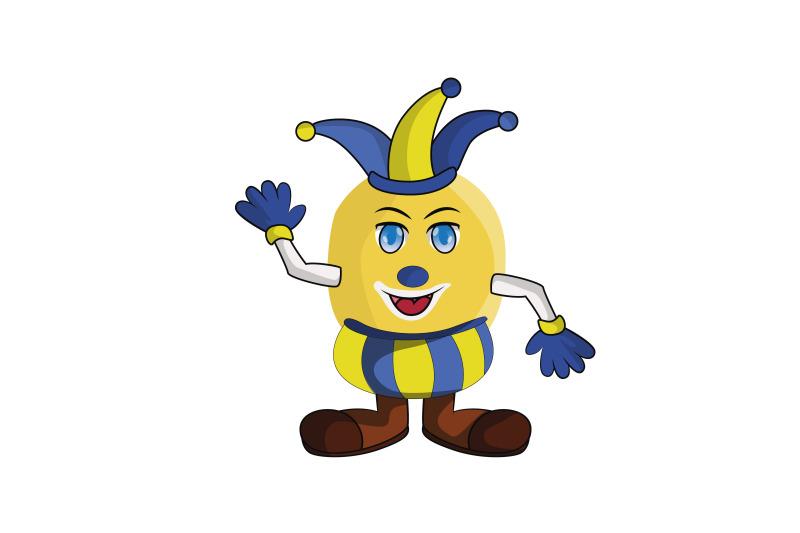lemon-fruit-clown-cartoon-character