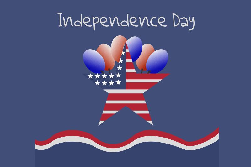 american-star-symbol-with-balloon-illustration