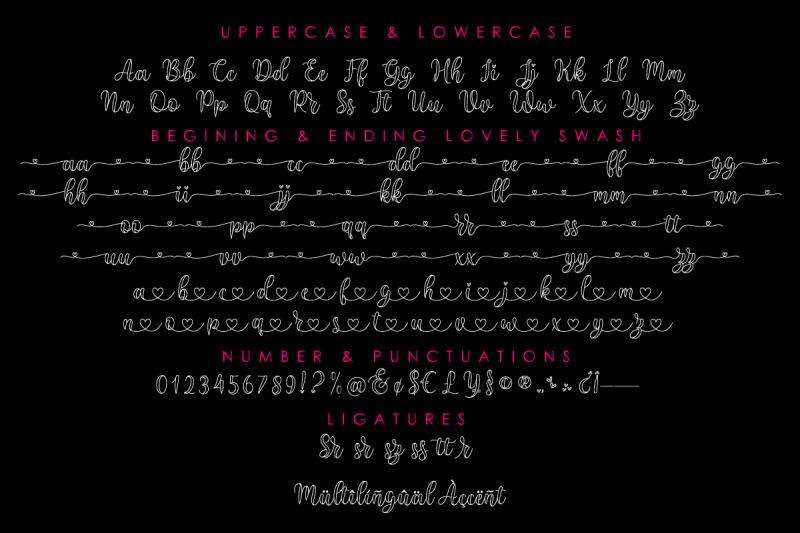 monolove-lovely-script