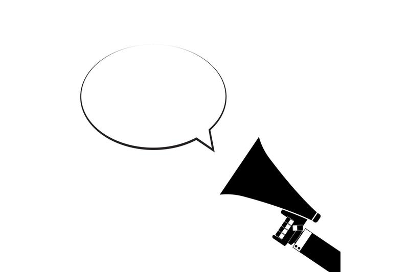 announcement-in-megaphone-speech-bubble
