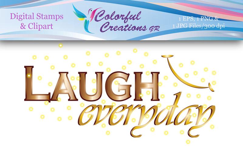 laugh-everyday-digital-stamp-laugh-smile-motivational-stamp-digita