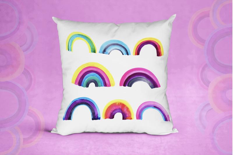 watercolor-rainbow-set