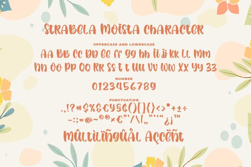 strabela-moista-a-quirky-font