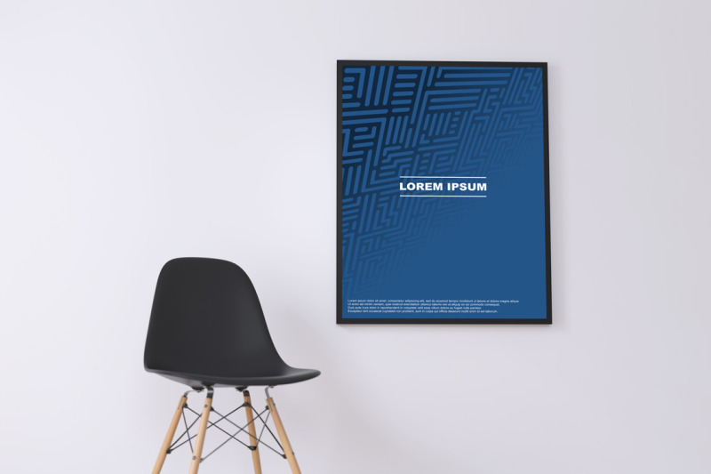 blue-geometric-digital-posters