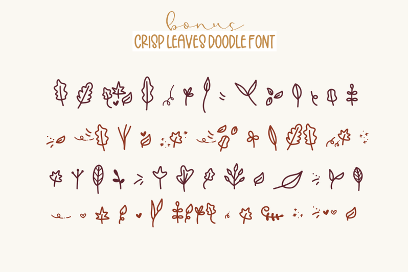 crisp-leaves-handwritten-font-with-fall-doodles