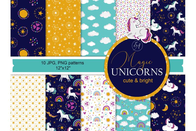 unicorn-seamless-patterns