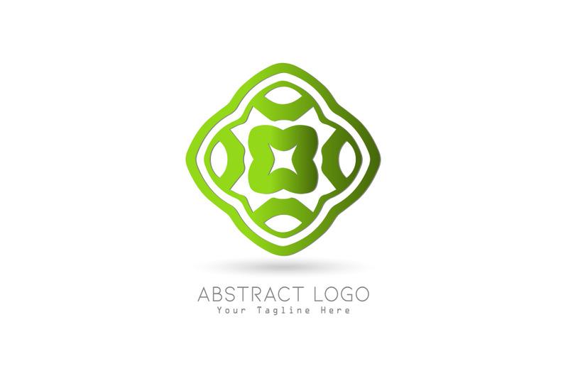 logo-abstract-gradation-green-color