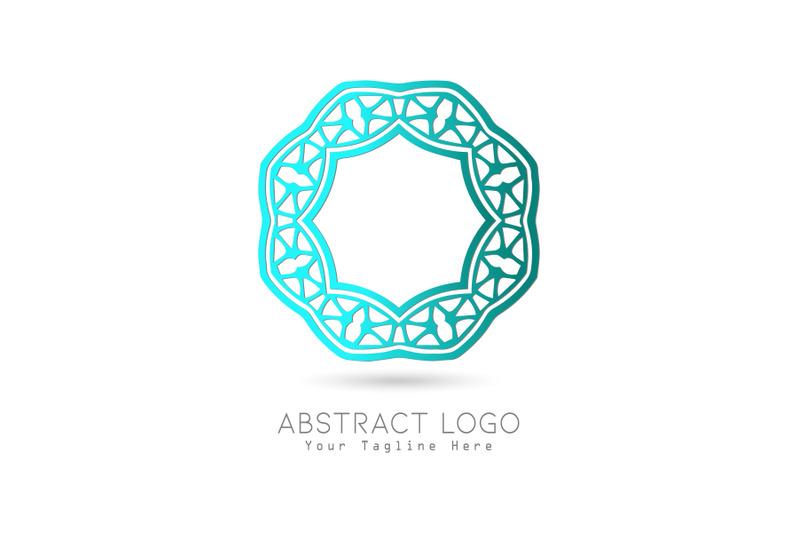 logo-abstract-gradation-blue-color-design