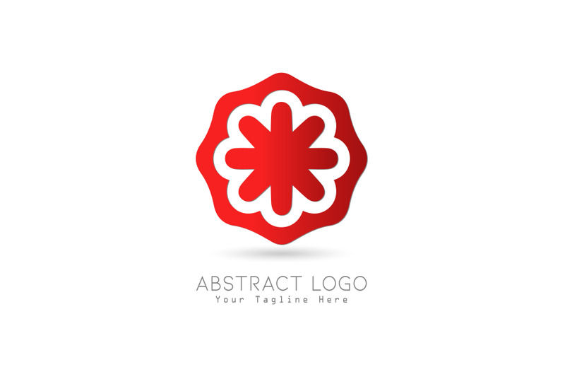 logo-abstract-gradation-red-color-design