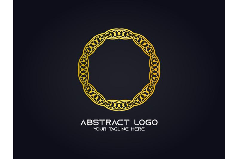 logo-abstract-gold-color-circle-design