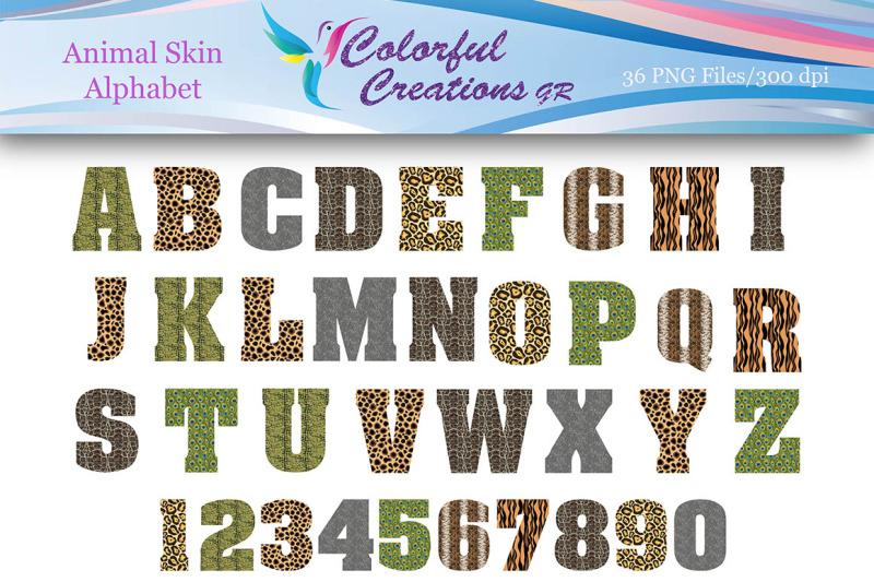 animal-skin-alphabet-animal-skin-numbers-digital-alphabet-numbers