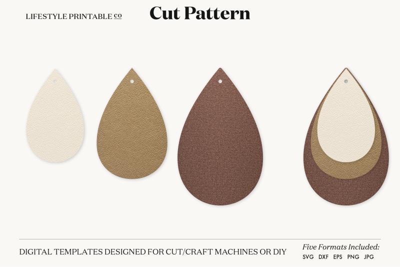 Download Earrings SVG Template Cut File Cricut Earrings Bundle ...