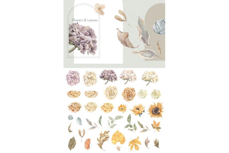autumn-women-amp-harvest-watercolor-collection