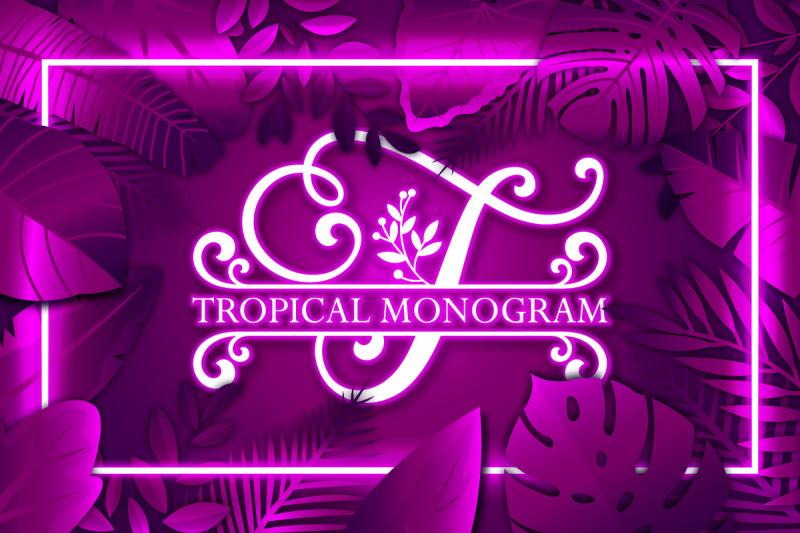 tropical-monogram