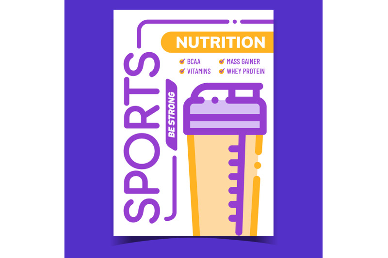 sports-nutrition-creative-advertise-banner-vector