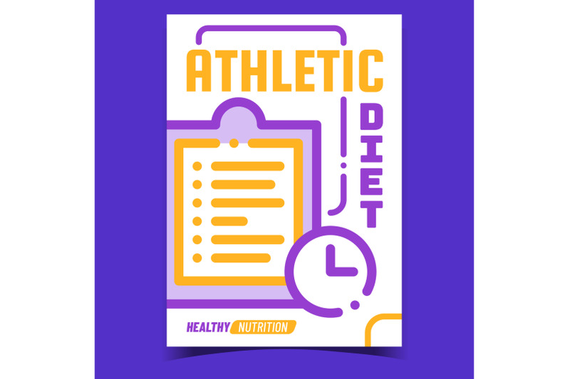 athletic-diet-creative-advertising-banner-vector